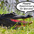 Alligator Anniversary Card by Al Powell Photography USA