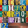 Alphabet License Plate Letters Artwork by Design Turnpike