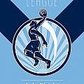Amateur Basketball League Retro Poster by Aloysius Patrimonio