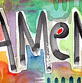 Amen Greeting Card by Linda Woods