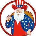 American Father Christmas Santa Claus by Aloysius Patrimonio