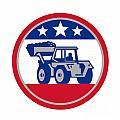 American Mechanical Digger Excavator Retro by Aloysius Patrimonio