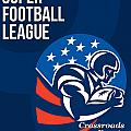 American National Super Football League Poster  by Aloysius Patrimonio