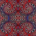Americana Swirl Banner 3 Print by Sarah Loft