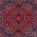 Americana Swirl Design 1 by Sarah Loft