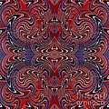 Americana Swirl Design 2 by Sarah Loft