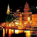 Amsterdam At Night Four by John Malone