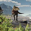 An Acrocanthosaurus Roams An Early by Arthur Dorety