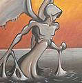 An Angel Out Of Oil by Jeffrey Oleniacz