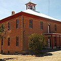 An Old School In White Oaks New Mexico by Jeff Swan