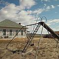 An Old School Near Miles City Montana by Jeff Swan