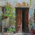 An Open Door Milan Italy by Anna Rose Bain