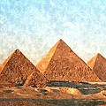 Ancient Egypt The Pyramids At Giza by Gianfranco Weiss