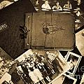 Antique Autograph and Photo Albums and Photos Print by Amy Cicconi