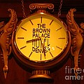 Antique Clock At The Bown Palace Hotel by John Malone