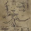 Antique Dental Chair Patent by Dan Sproul