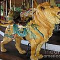 Antique Dentzel Menagerie Carousel Lion Print by Rose Santuci-Sofranko