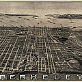 Antique Map Of Berkeley California By Charles Green - Circa 1909 by Blue Monocle