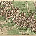 Antique Map Of Grand Canyon National Park By The National Park Service - 1926 by Blue Monocle
