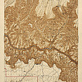 Antique Map of Grand Canyon National Park - USGS Topographic Map - 1903 Print by Blue Monocle
