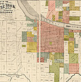 Antique Map Of Little Rock Arkansas By Gibb And Duff Rickon - 1888 by Blue Monocle