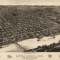 Antique Map Of Little Rock Arkansas By H. Wellge - 1887 by Blue Monocle