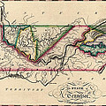 Antique Map Of Tennessee By Samuel Lewis - Circa 1810 by Blue Monocle
