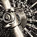 Antique Plane Engine by Olivier Le Queinec