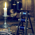 Antique Sewing Items Print by Amanda And Christopher Elwell