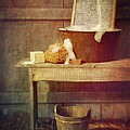 Antique Wash Tub With Soaps by Sandra Cunningham