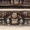 Anuradhapura carving Print by Jane Rix
