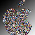 Apple Mosaic On Gradient by Yury Malkov