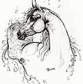 Arabian Horse Drawing 8 by Angel  Tarantella