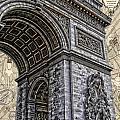 Arc De Triomphe - French Map Of Paris by Lee Dos Santos