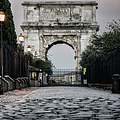 Arch Of Titus Morning Glow by Joan Carroll
