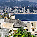 Architecture With Ith Acapulco Skyline by Linda Phelps