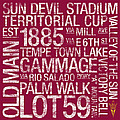 Arizona State College Colors Subway Art by Replay Photos