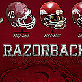 Arkansas Razorbacks Football Panorama by Retro Images Archive
