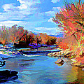 Arkansas River In Salida Co by Charles Muhle
