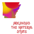 Arkansas State Map Collection 2 Print by Andee Design