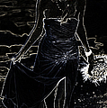 As Aphrodite Coming From Sea Foam. Black Art by Jenny Rainbow