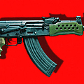 Assault Rifle Pop Art - 20130120 - V1 by Wingsdomain Art and Photography