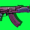 Assault Rifle Pop Art - 20130120 - V3 by Wingsdomain Art and Photography
