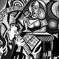 At The Piano Bar Print by Anthony Falbo