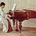 At The Piano by Theodore Robinson