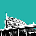 Atlanta Georgia Aquarium - Teal Green by DB Artist