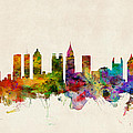 Atlanta Georgia Skyline Print by Michael Tompsett
