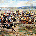 Attack Of The Horse Regiment Print by Victor Mazurovsky
