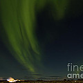 Aurora Borealis over Iceland Print by Andres Leon