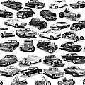 Automotive Pen And Ink Poster by Jack Pumphrey
